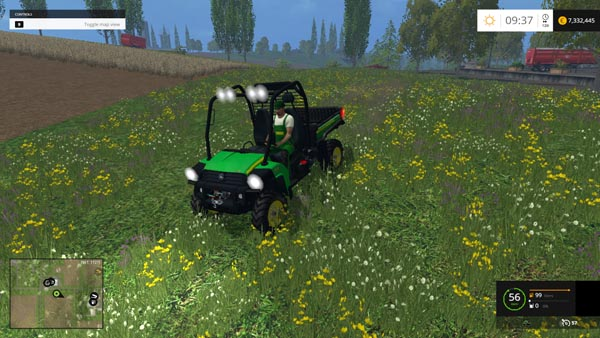 John Deere Gator with Trailer