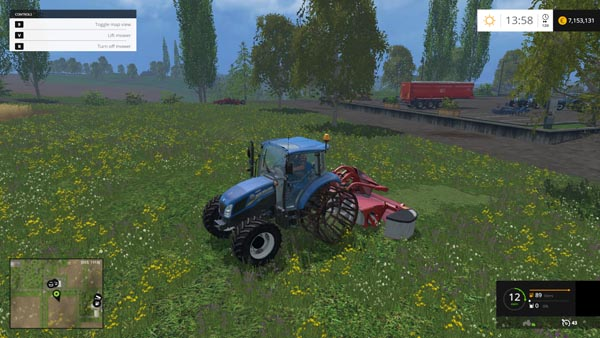 New Holland T4.75 With Iron Wheel