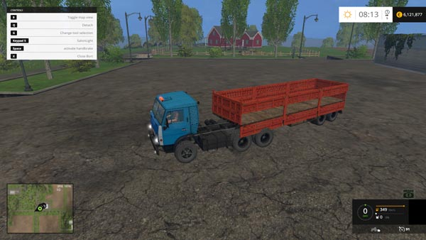 KamAZ 5410 Truck and Trailer
