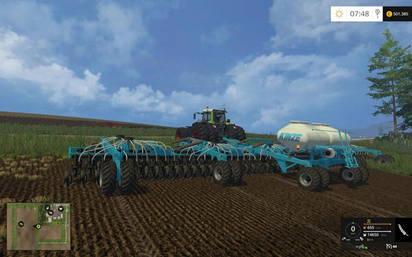 Kinze 22m seed fertilizer Combination