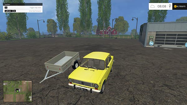 Vaz 2101 and trailer
