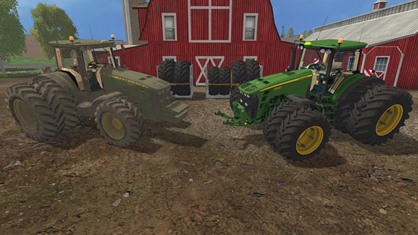 John Deere 8530 v 4.0 European Dirt