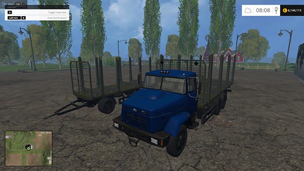 KrAZ 6233 With Trailer