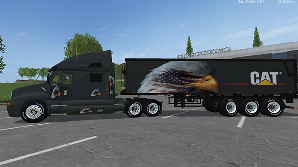 Eagle Eye Kenworth Cat Truck and Eagle Eye Semi Trailer