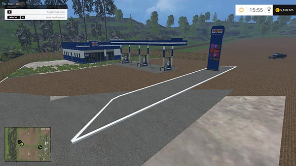 Exon Gas Station