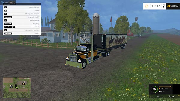 Kenworth W900a and Semitrailer Bandit Edition