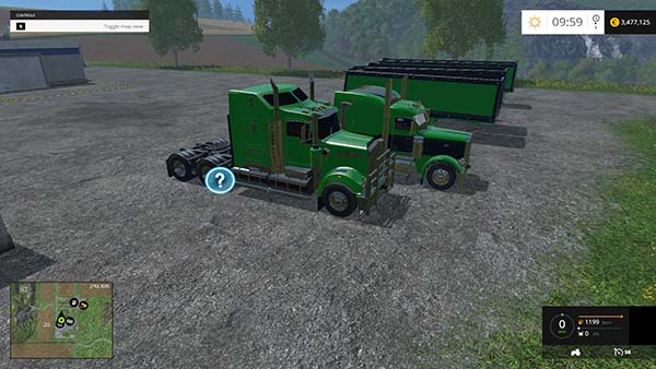 Peterbilt 388 KW T908 + Australia trailer Multifruit