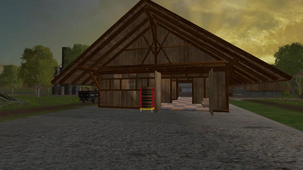 Village shop with building function