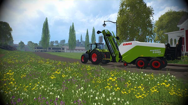 Claas Quadrant 3200 and Nadal R90