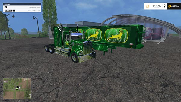 John Deere Truck and Trailer