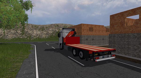Mercedes Benz Actros mp4 plateau