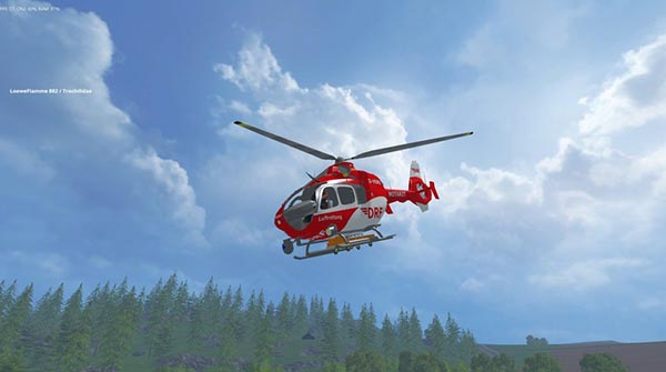 DRF rescue helicopter
