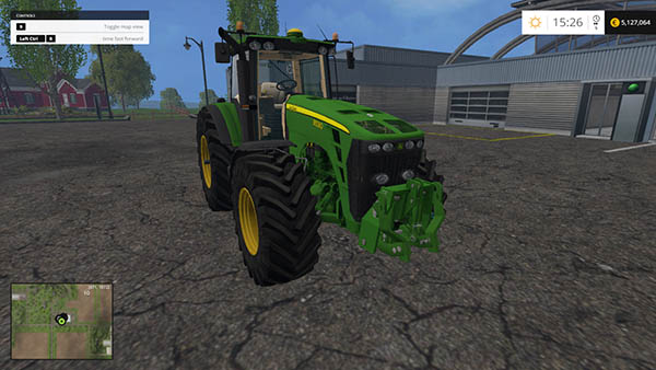 John Deere 8530 with FH