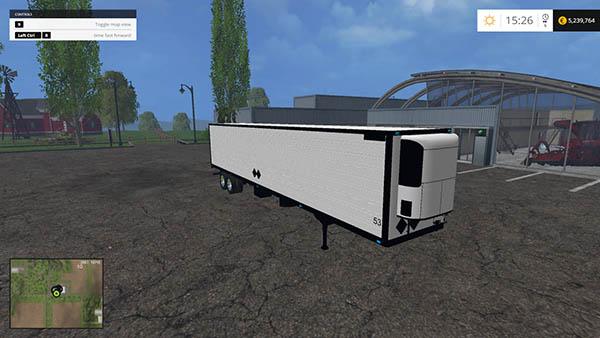 White Great Dane Trailer