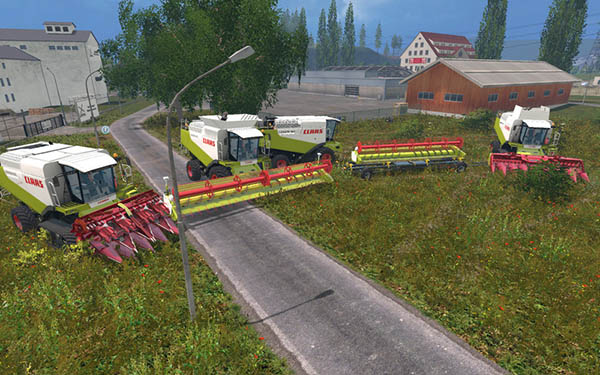 Claas Lexion 580 and 600