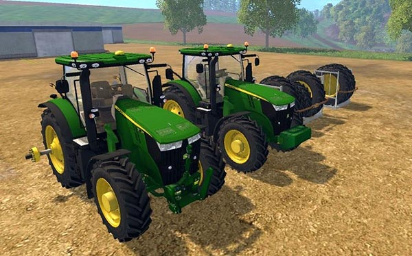 John Deere 7R LOADER WITH DUALS