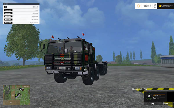 Military truck 8X8 with Fuel Tanker trailer