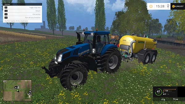 NEW HOLLAND T8 320 WASHABLE