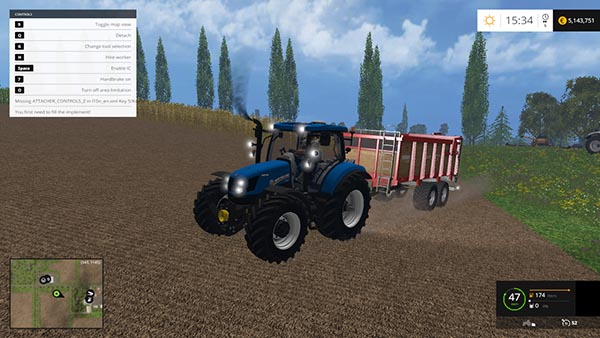 New Holland t6.160 v 1.0
