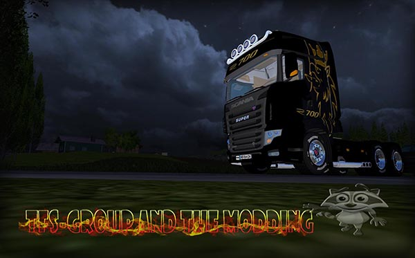 SCANIA BLEU BLACK 700EVO