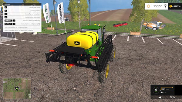 JOHN DEERE 4730 SPRAYER v 1.0