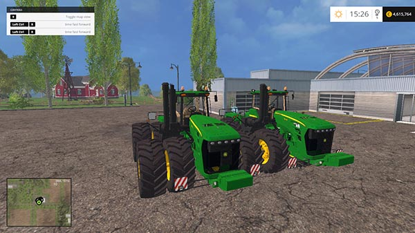 John Deere 9630 single and double wheels