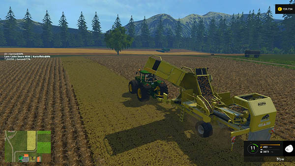 Ropa Tiger potato harvester v 1.0