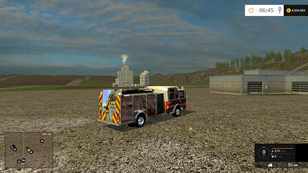 American fire truck with working hose v 1.0