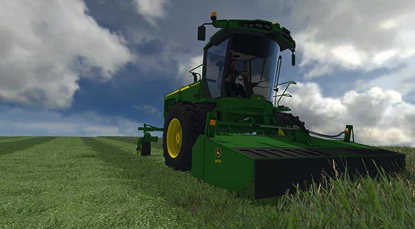 John Deere W260 with 995 Rotary Cutter v 1.0