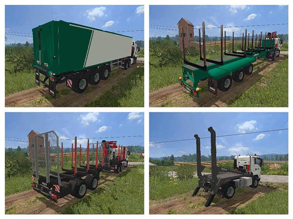 MAN TGS 41.480 Forest Pack v 2.0
