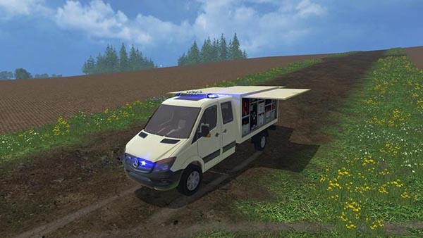 Mercedes Sprinter ambulance trolley NRW v 1.0