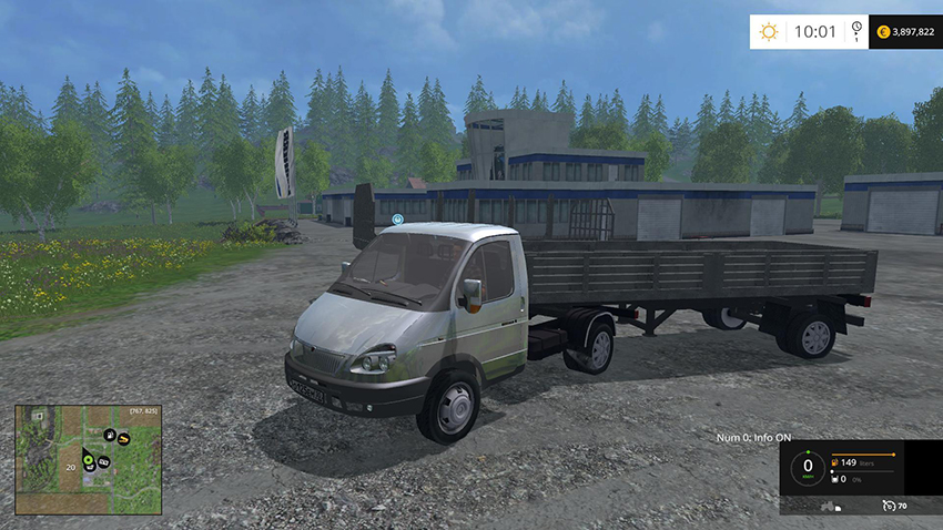 Gazelle with trailers v 1.0