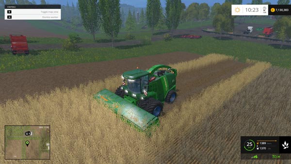 KRONE BIGX11 WITH DYNAMIC TWIN FRONTS WHELS PACK