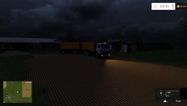 MAZ 5516 and Trailer