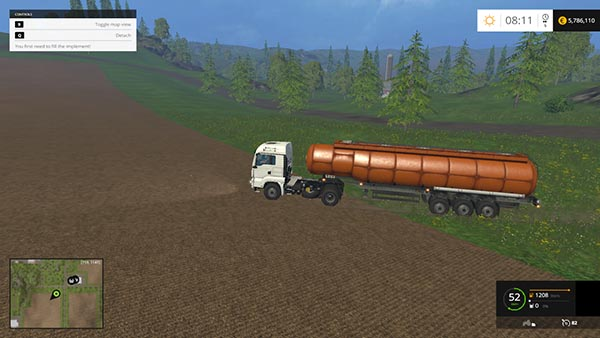 CISTERN WATER AND MILK TRAILER