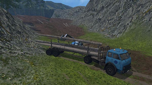 MAZ 509 Forestry Set