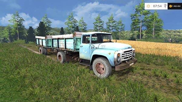 ZIL 130 And Trailer
