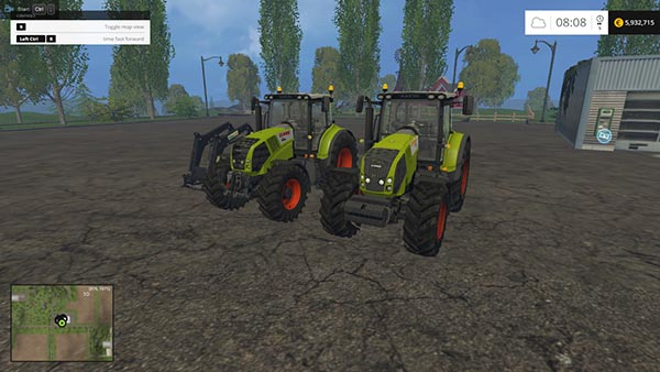 Claas Axion 830FL and 850