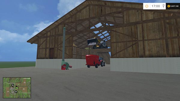 Shed with hay blower v 1.0