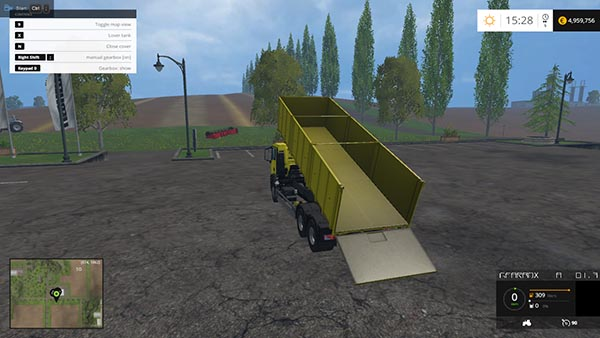 MAN Grain Gearbox and Trailer