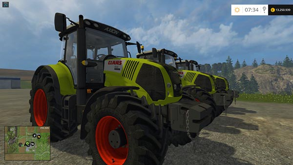 Claas Axion 850 FH and Weight Version