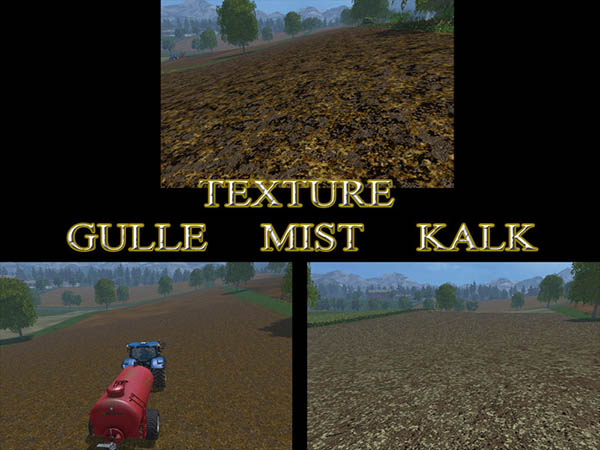Gulle manure lime Texture