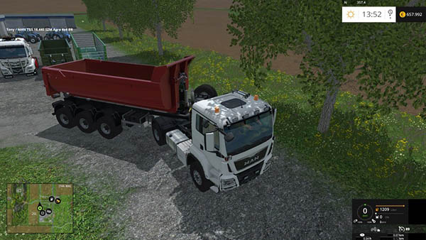 MAN tractor unit and semitrailer HKL