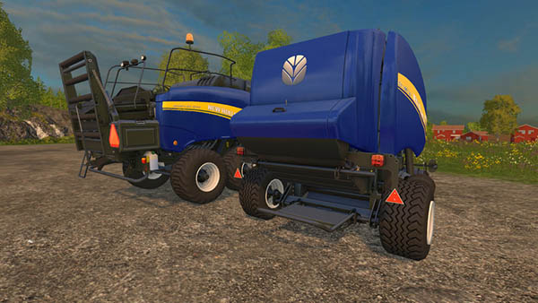 New Holland RollBelt 150 & BB1290 Blue