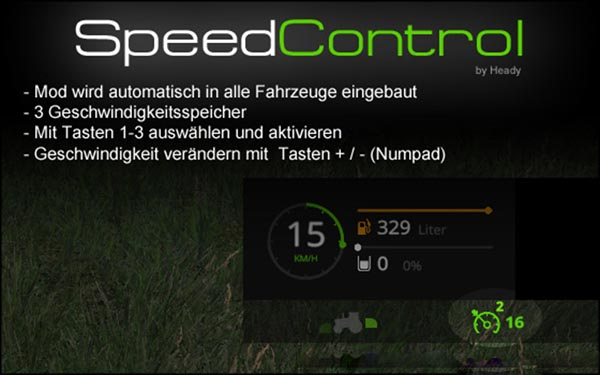 Speed control v 15.0.2