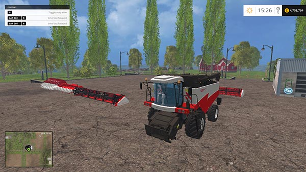 ROSTSELMASH TORUM 760 v 1.5 AND 4 HEADER
