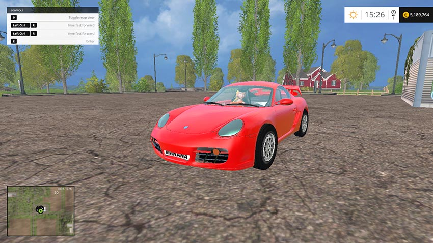 Porsche cayman S final | Farming simulator 2015 mods