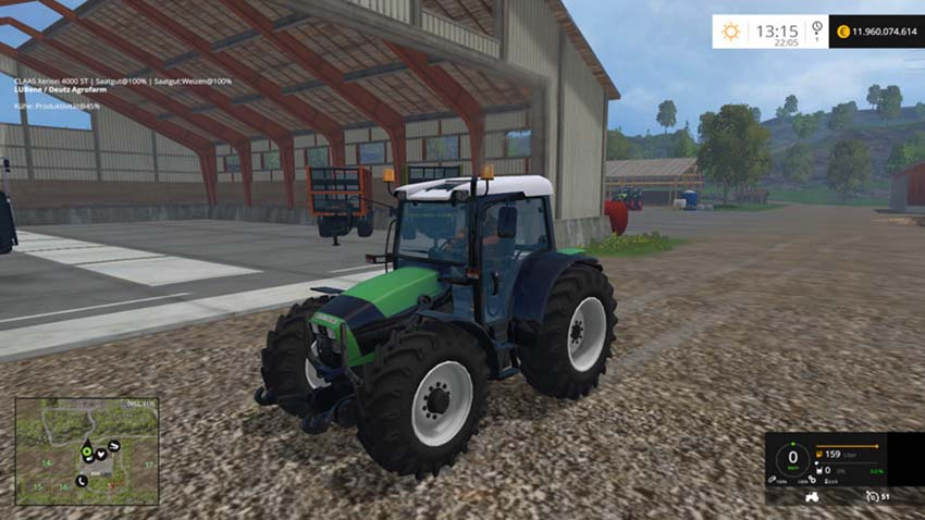 Deutz Fahr Agrofarm 430 with FL V 1.5